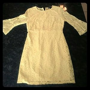 Forever 21 Yellow Lace Dress